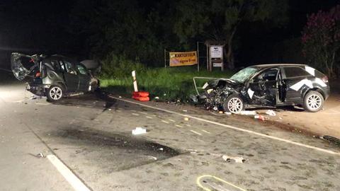 Zwei der drei beteiligten Unfallautos.