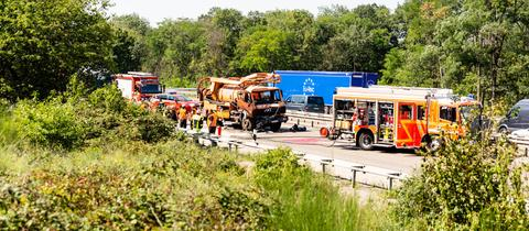 Unfall auf der A60