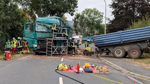 Die Unfallstelle in Lauterbach