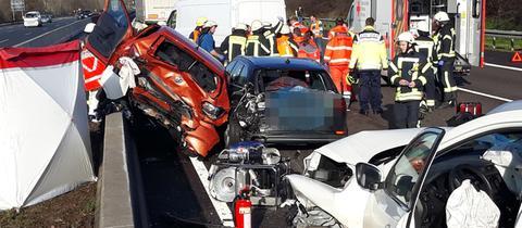 Schwerer Unfall Höhe Rastanlage Lorsch