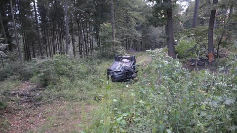 Unfallstelle im Wald bei Michelstadt