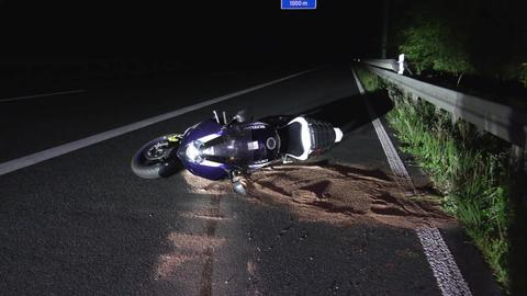 Unfallstelle auf der A5 bei Eberstadt