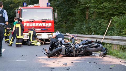 Unfallstelle in Künzell
