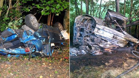 Unfall bei Korbach und in Romrod / Montage: hessenschau.de