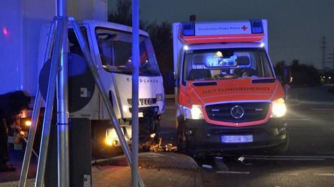 Unfallstelle bei Zeilsheim