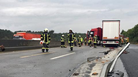 Auf der A3 blockierte ein Lkw die Fahrbahn in Richtung Frankfurt.