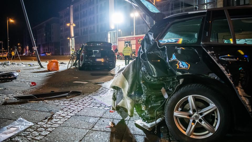 Die Unfallstelle im Frankfurter Ostend