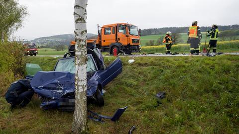 Unfallstelle in Usingen