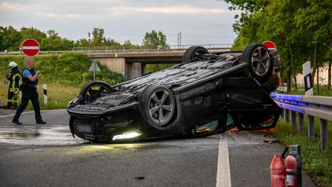 Unfall nach Verfolgungsjagd auf der A3