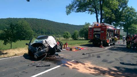 Feuerwehreinsatz am Unfallort