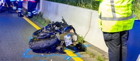 Unfallstelle auf der A66