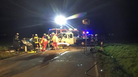 Rettungseinsatz an der Unfallstelle