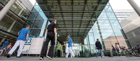 Eingang Uniklinik Frankfurt