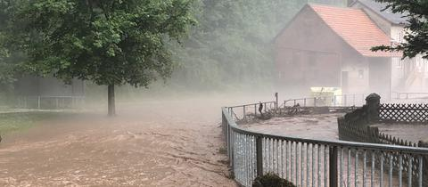 In Hetzerode wütete das Unwetter besonders schlimm.