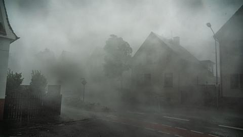 Ein starkes Gewitter mit Sturmböen zieht am 18. August durch Langen im Kreis Offenbach.