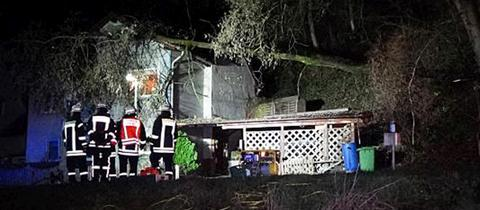 Ein Baum stürzte in Feldberg auf ein Wohnhaus.