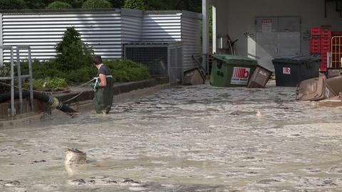 Überschwemmung in Nieder-Ramstadt