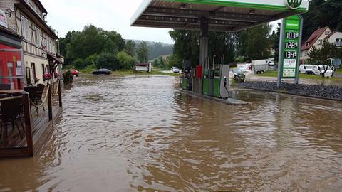 Unwetter Rhön Überschwemmung