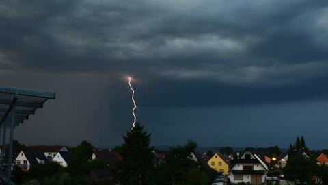 Unwetter über Seligenstadt