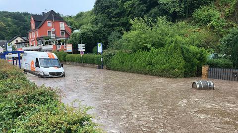 Überschwemmungen nach Starkregen in Villmar
