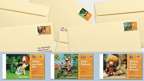 Nun auch als Briefmarke: die Augsburger Puppenkiste gibt es jetzt in drei Motiven