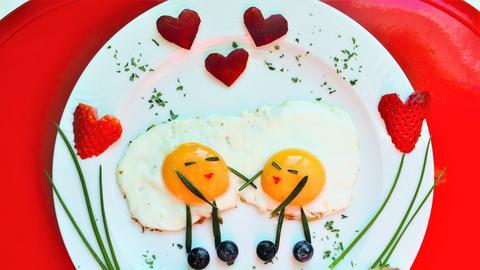 Valentins-Frühstück.