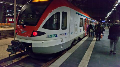 Vias-Express im Frankfurter Hauptbahnhof