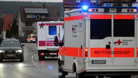 Krankenwagen in Volkmarsen.