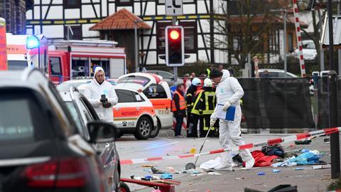 Spurensicherung am Tatort in Volksmarsen