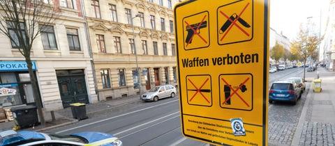 Schild einer Waffenverbotszone