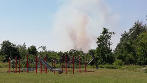 Waldbrand bei Münster