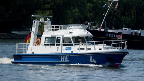 Ein Boot der Wasserschutzpolizei