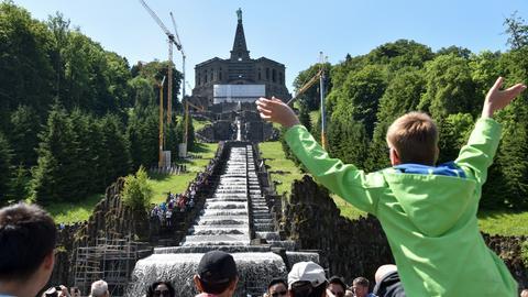 Wasserspiele im Bergpark Wilhelmshöhe in Kassel