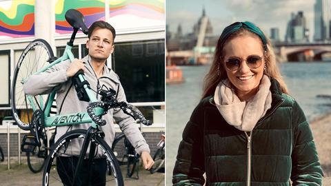 Zwei Portraits der Protagonisten Philipp und Olivia.