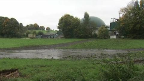 Die Biogasanlage.