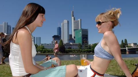 Wetter Sonne Sommer Frankfurt Sujet