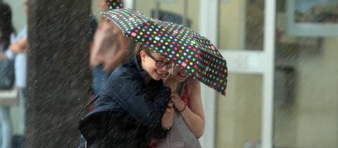 Regenschauer im Sommer