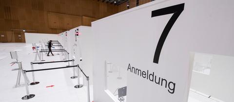 Das regionale Impfzentrum Wiesbaden ist im RheinMain CongressCenter.