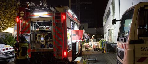 Feuerwehreinsatz in einem Wiesbadener Umspannwerk