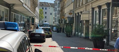 Spurensicherung am Tatort in Wiesbaden