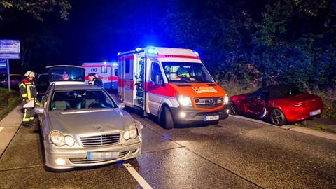 Unfall auf B455 in Wiesbaden