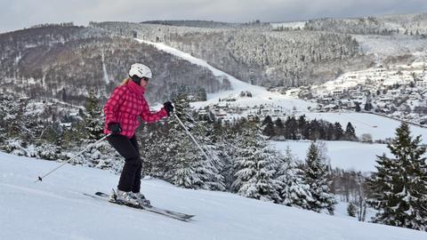 Skifahrerin in Willingen