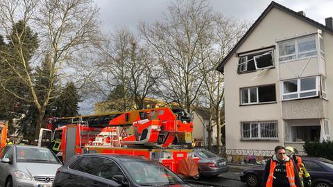 Das zerstörte Haus in Offenbach