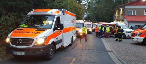 Hohe CO-Werte: Mehrere Wohnhäuser in Bad Soden-Salmünster wurden am Sonntag evakuiert.