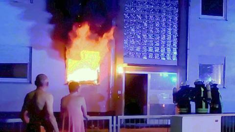 Wohnhausbrand in Biblis