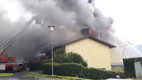 Wohnhausbrand im südhessischen Fürth