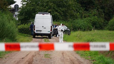 Der Tatort: Ein Feldweg am Rand von Wolfhagen.