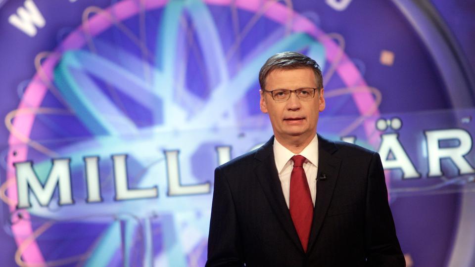 """Günther Jauch bei einer Aufzeichnung der Sendung """"Wer wird Millionär""""."""
