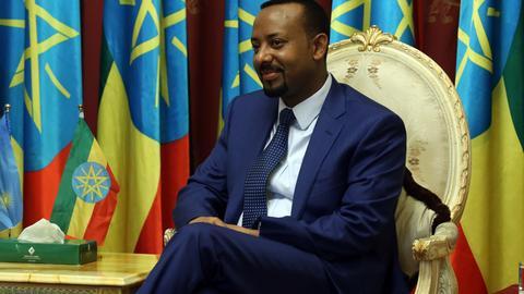 Äthiopiens Regierungschef Abiy Ahmed im Nationalpalast in der Hauptstadt Addis Abeba
