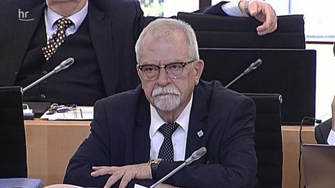 Der AfD-Abgeordnete Karl Hermann Bolldorf im Landtag